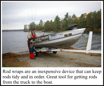 Fishing rod totes and carrying systems ontario fishing for Wrap fishing system
